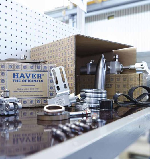 Spare parts (including HAVER & BOECKER OHG)